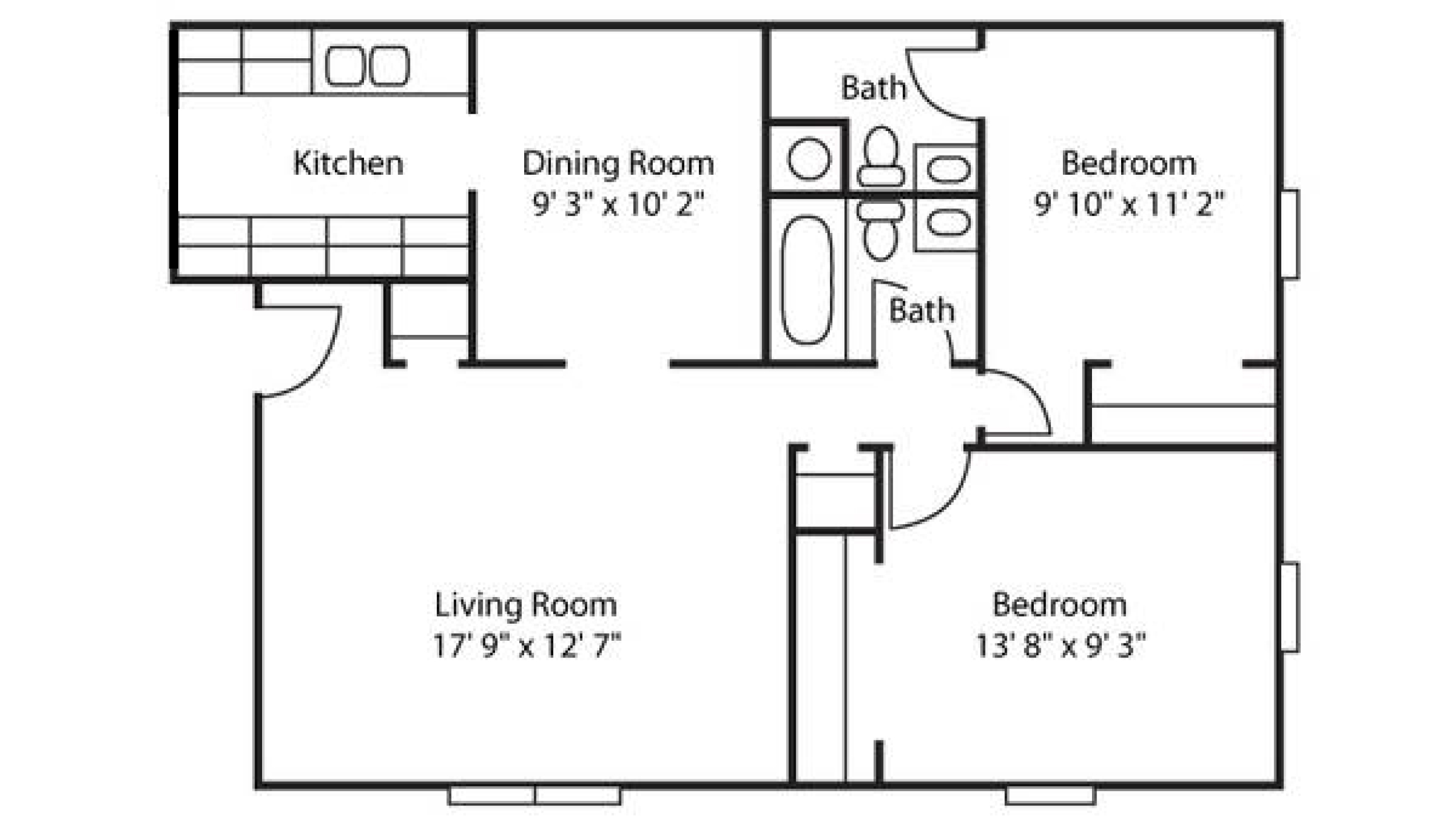 Floor plans rates 2 bhk flat drawing